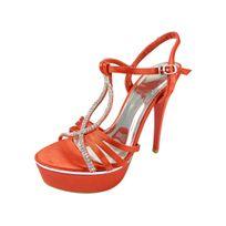 Chaussmaro - Chaussure de mariage ouverte a plateforme et talons aiguilles