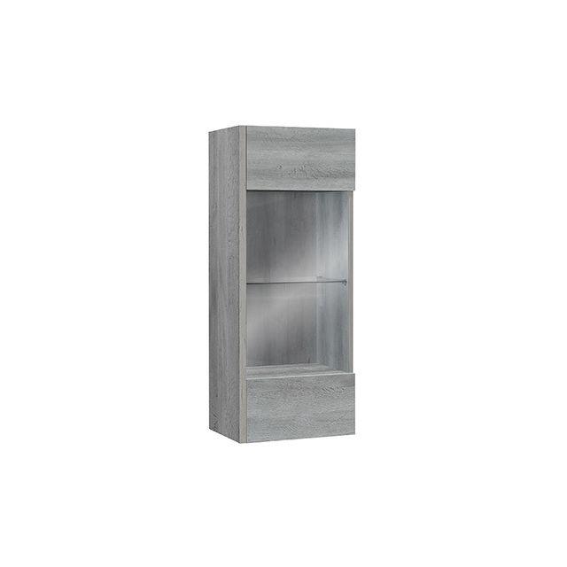 meuble de rangement suspendu l44xh110xp34cm gris pas cher achat vente rangements placards. Black Bedroom Furniture Sets. Home Design Ideas