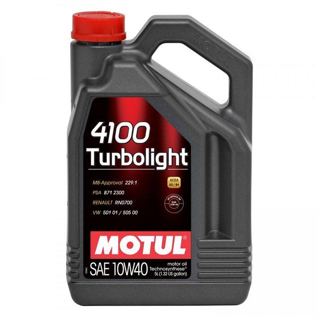 motul huile moteur 4100 turbolight 10w40 bidon de 5 l achat vente huiles moteurs 4t pas. Black Bedroom Furniture Sets. Home Design Ideas