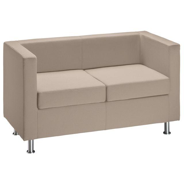 Canapé 2 places tissu classique - Cube