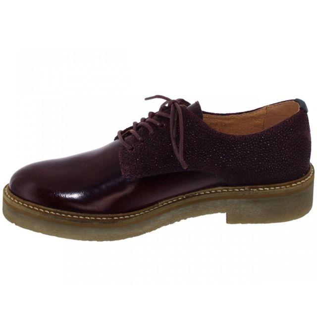 182 Bordeaux 50 Chaussures 512054 Oxfork Kickers Lacets À Pas YqSa0