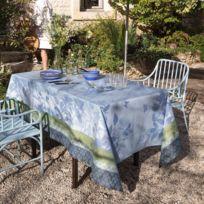 Le Jacquard Francais - Nappe 175 x 320 cm Jardin de paradis Céleste Enduite par Le Jacquard Français - Jardin de paradis Céleste Enduite par Le Jacquard Français