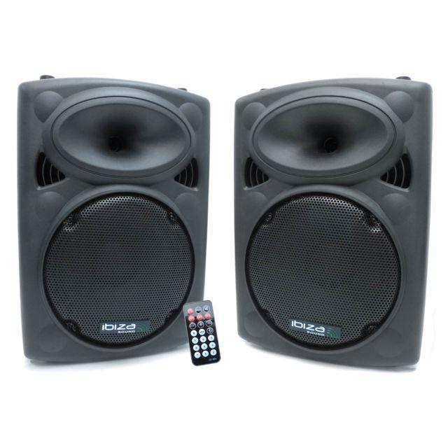 Ibiza Enceinte amplifiée 400W + enceinte passive 350W
