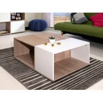 Symbiosis - Table basse en bois rectangulaire Longueur 89 cm Paula - Chêne