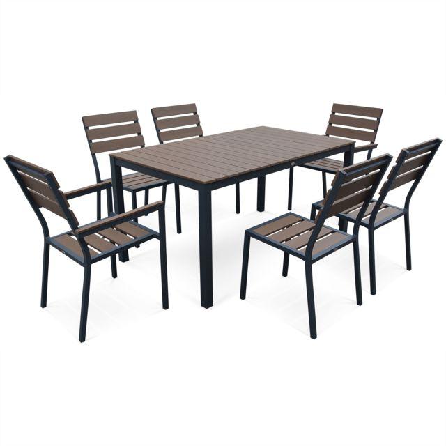 Table Pliante Extensible: Salon De Jardin Monaco En Bois Composite