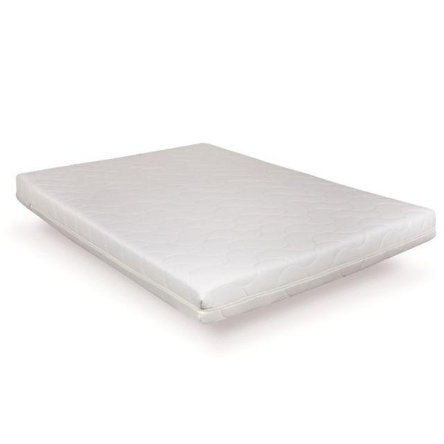 Incroyable Literie Matelas Erable 90x200 | Fabrication française | Mousse H.R 35kg/3 | Déhoussable | Confort Ergonomique Réversible | Haute