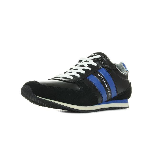 Versace - Sneaker Uomo DisA3 Coated  Suede Noir, Bleu marine, Blanc - 41 - pas  cher Achat   Vente Baskets homme - RueDuCommerce ada3eaa3cd6