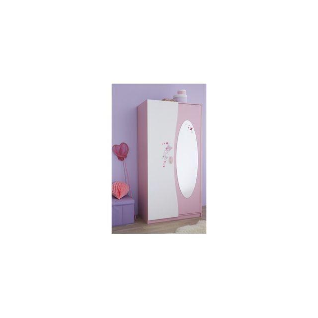 Rocambolesk Armoire 2 Portes+MIROIR Papillon