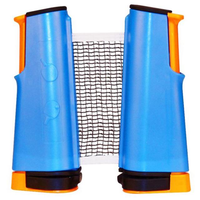 Get Go - Filet & pour tennis de table enroulable bleu cobalt/orange/noir