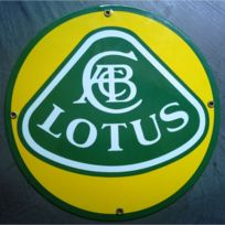 Universel - Plaque emaillée lotus ronde voiture tole email deco garage c8c59537872