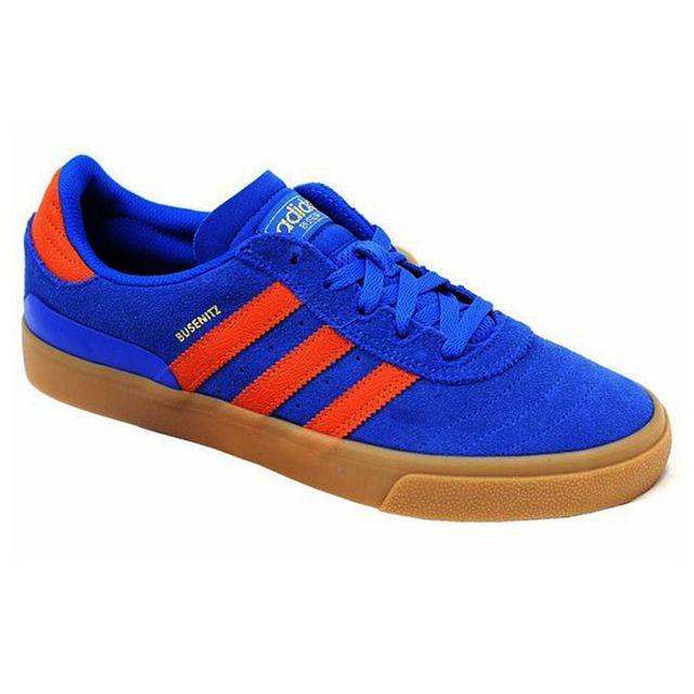 Adidas Originals BUSENITZ Vulc Bleu Orange C75236 pas