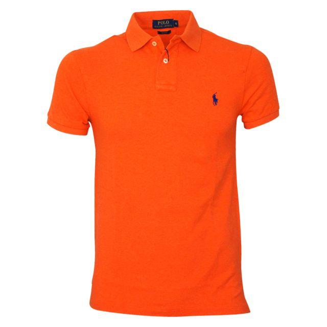 Polo Courte Manche Lauren Cher Achat Vente Orange Ralph Pas QtrhCdsx