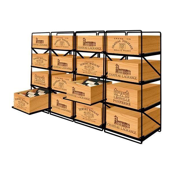 Modulorack La seule solution pour stocker 16 caisses de vins et 192 bouteilles - Aci-mod512H