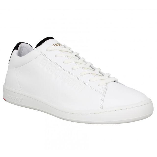 f0906e792e1f Le Coq Sportif - Blazon cuir Homme-42-Blanc - pas cher Achat   Vente  Baskets homme - RueDuCommerce