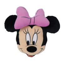Minnie Mouse - Coussin tête noir Minnie velboa 100% Polyester