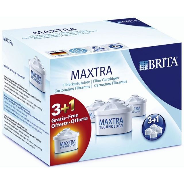 BRITA Pack de 3 cartouches + 1 gratuite MAXTRA 100482