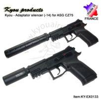 KYOU - Rep adaptateur silencieux métal pour GBB ASG CZ75
