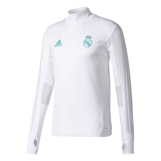 36d4129ce Adidas - Training Top Real Madrid 2017 2018 Blanc - pas cher Achat ...
