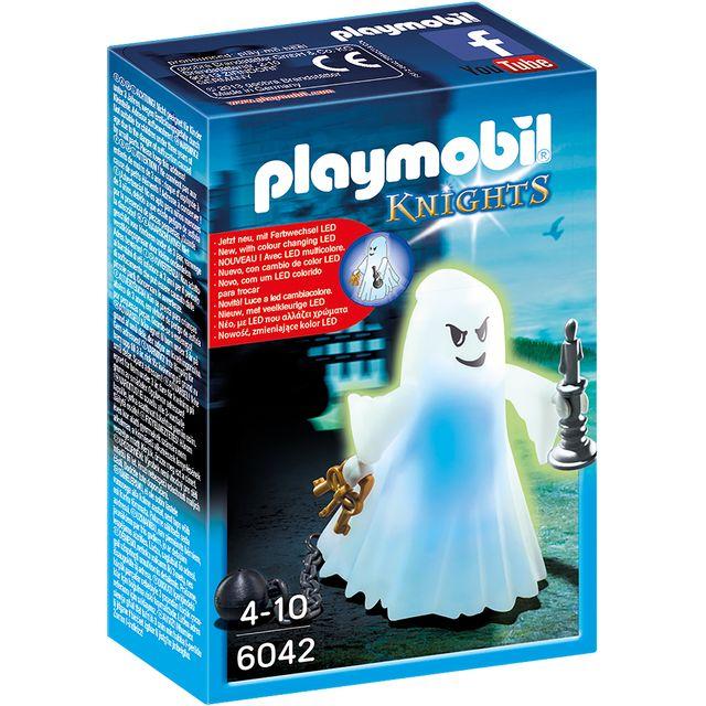 PLAYMOBIL KNIGHTS - Fantôme avec LED multicolore - 6042 Contient 1 fantôme, 1 boulet, 1 chandelier et des clés.