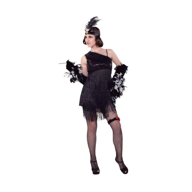 3ab8b86ee5a Marque Generique - Costume robe charleston noire à franges - pas ...