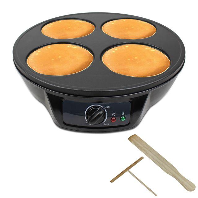 Storaddict - Machine à Crêpes, 4 plaques de cuisson