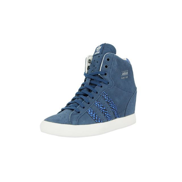 new concept 84431 35fe6 Adidas originals - Adidas Basket Profi Up Chaussures Mode Sneakers Femme  Cuir Suede Bleu