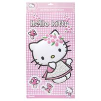 Fun House - Décoration murale personnage en relief rose Hello Kitty
