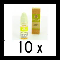 Pulp - Lot 10 e-liquides Pomme Chicha 3mg soit 4,90 euros le flacon 10ml