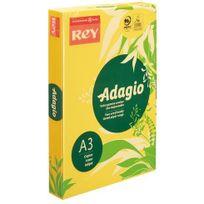 Rey - Ramette papier couleur Adagio couleurs intenses A3 80 gr - 500 feuilles - jaune vif