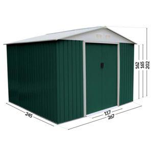 habitat et jardin abri de jardin m tal rosas 7 06 m. Black Bedroom Furniture Sets. Home Design Ideas