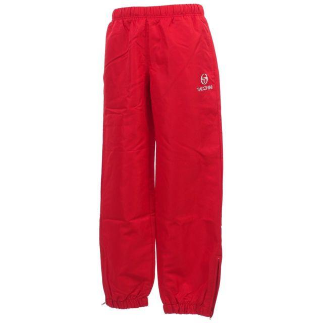 afff5856cb7a8 Sergio Tacchini - Pantalon de survêtement Carson rouge ripstop jr Rouge  15410 - pas cher Achat / Vente Survêtement enfant - RueDuCommerce