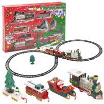Touslescadeaux - Train électrique de Noël - Son et Lumière - 22 pièces - Décoration de Noël
