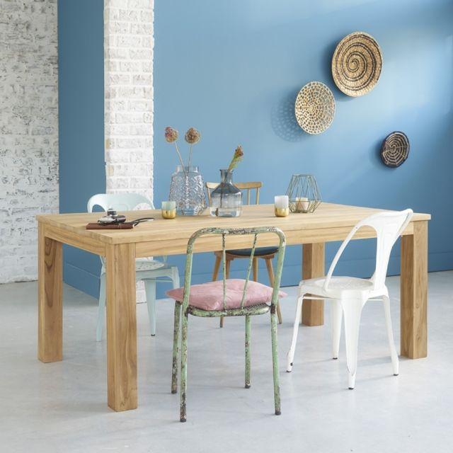 Bois Dessus Bois Dessous Table rectangulaire en bois de teck 180 cm