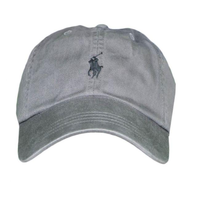 Ralph Lauren - Casquette grise logo noir pour homme Taille unique ... e9be8f55bb4