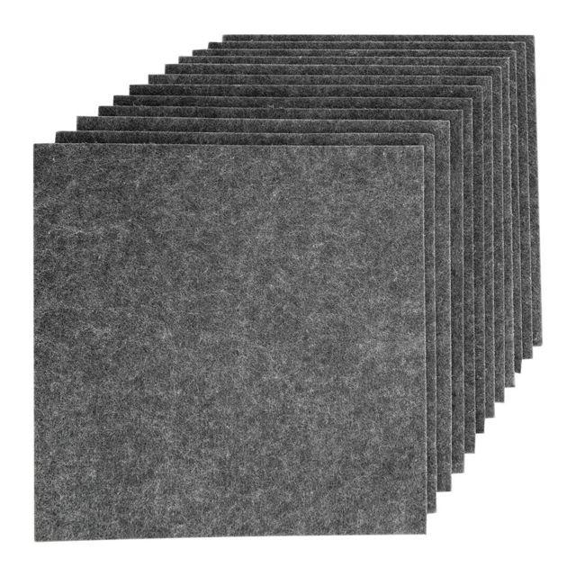 Paquet de 12 tuiles de panneau d'isolation acoustique insonorisées gris noir gris