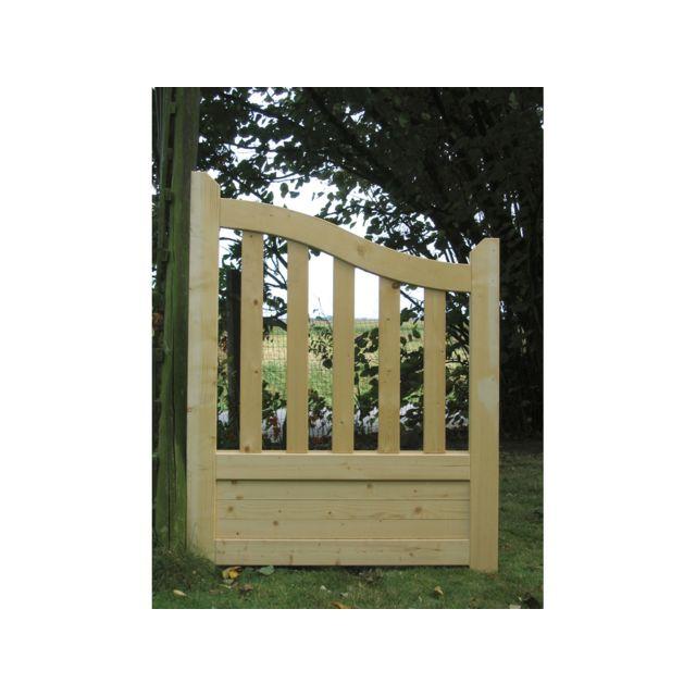 Habitat et jardin portillon jardin bois gand 1 x x pas cher achat vente - Portillon jardin bois ...