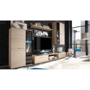 chloe decoration meuble tv design mural cevat bois clair blanc pas cher achat vente. Black Bedroom Furniture Sets. Home Design Ideas