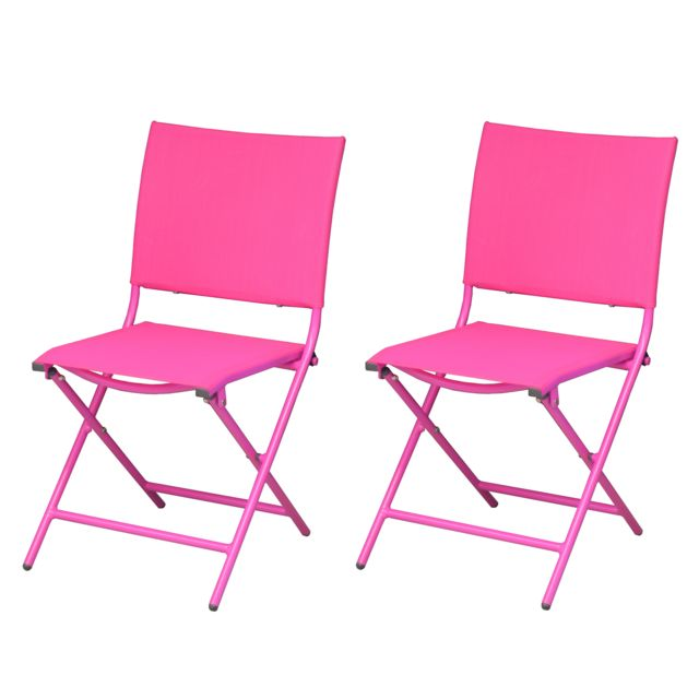 rendez vous deco chaise bali rose lot de 2 pas cher achat vente chaises de jardin. Black Bedroom Furniture Sets. Home Design Ideas
