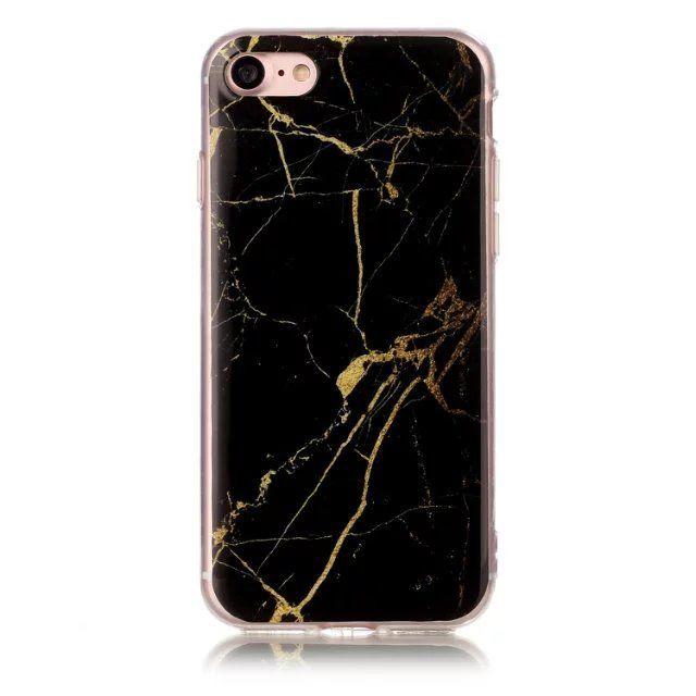 coque iphone 7 noir marbre