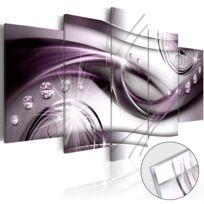 Bimago - Tableau sur verre acrylique - Violet Glow Glass