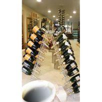 Sobrio - Présentoir pose libre en plexiglas pour 120 bouteilles de champagne - Plexiglas transparent Aci-sbr136