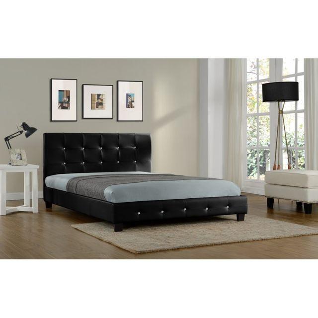 Rocambolesk Magnifique Lit Palace Xcm Cadre De Lit En - Cadre de lit simili cuir