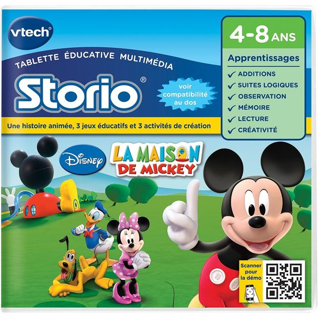VTECH Jeu Storio - La Maison de Mickey - 230405