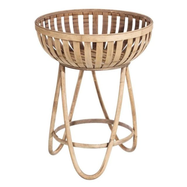 Tousmesmeubles Table d'appoint Bambou naturel - Tanar n°4