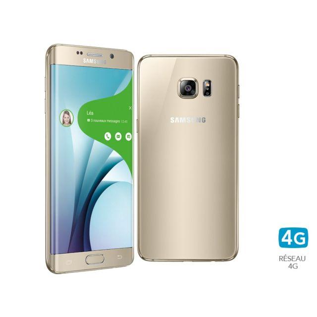 samsung galaxy s6 edge plus 32go or pas cher achat vente smartphone classique android. Black Bedroom Furniture Sets. Home Design Ideas