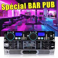 Ibiza Sound - Pack Complet Bar Pub 2X360W Faible encombrement