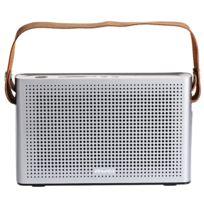 Auto-hightech - Enceinte Bluetooth 4.0 Support de haut-parleur Aux Fonction d'entrée Microphone Poignée Argenté