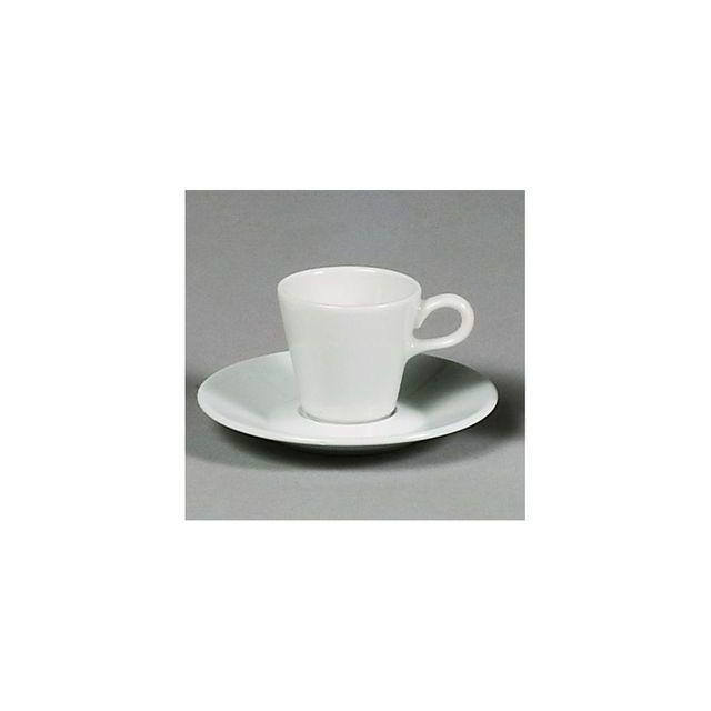 sarreguemines sous tasse caf blanche 13cm space pas cher achat vente le grand bazar. Black Bedroom Furniture Sets. Home Design Ideas