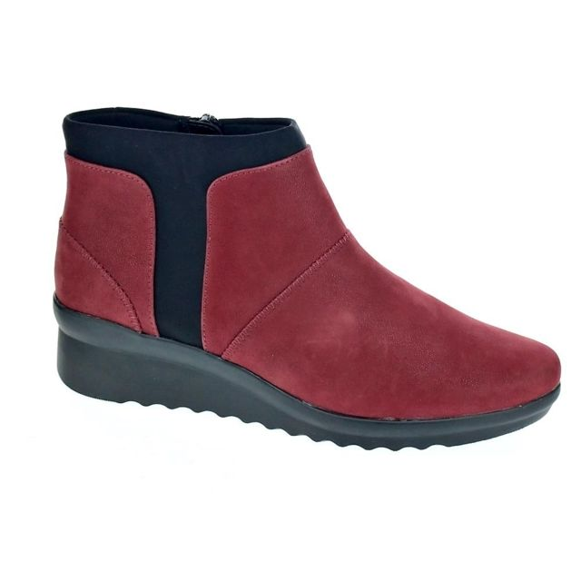 Bottine Chaussures Sloane Rouge Modele Clarks Caddell Pas Femme 6SqZ7qAw