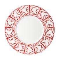 Table Passion - Assiette à dessert en porcelaine motif bambou D.23cm - Lot de 6 Madras